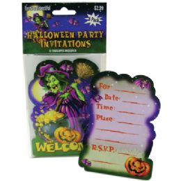72 Units of Halloween Party Invitations 8 Count With Envelopes - Invitations & Cards