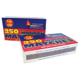 48 Units of Wooden Kitchen Matches 2 Pack 250 Count - Kitchen Gadgets & Tools