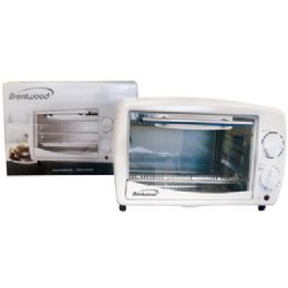 4 Units of Brentwood Toaster Oven 4 Slice Broiler White Ul Listed - Store