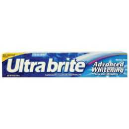 24 Units of Ultra Brite Toothpaste 6 Oz Advanced Whitening Clean Mint - Toothbrushes and Toothpaste