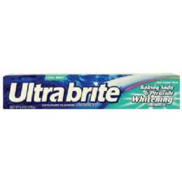 24 Units of ULTRA BRITE TOOTHPASTE 6 OZ WHITENING BAKING SODA AND PEROXIDE COOL MINT - Toothbrushes and Toothpaste