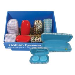 20 Units of OPTICAL/CONTACT CASES12 OPTICAL CASES ASSORTED 8 CONTACT CASES ASSORTED DISPLAY BOX - Eyeglass & Sunglass Cases