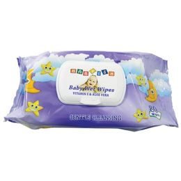 24 Units of BABY WIPE 80CT VIT-E AND ALOE PURPLE - Baby Beauty & Care Items