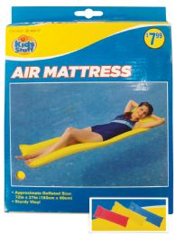 12 Units of POOL FLOATER AIR MATTRESS 72 X 27 INCH ASSORTED COLORS AGES 14+ PREPRICED $7.99 - Summer Toys