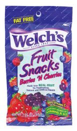 48 Units of Welch's Fruit Snacks 2.25 Oz Berries 'n Cherries (made In Usa) - Food & Beverage