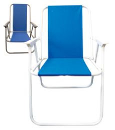 6 Units of Beach Chair 17 X 19 X 31 Inch Assorted Colors - Outdoor Recreation