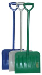 48 Units of Children's Snow Shovel 27 Inch Plastic Assorted Colors - Hardware Products