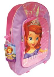 12 Units of SOFIA THE FIRST BACKPACK 16 INCHES WITH FRONT AND SIDE POCKETS