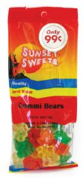 12 Units of SUNSET GUMMI BEARS 3.25 OZ PREPRICED $0.99 - Food & Beverage