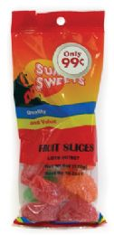12 Units of SUNSET FRUIT SLICES 4 OZ PREPRICED AT.99 - Food & Beverage
