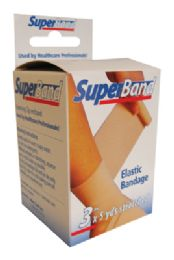 36 Units of Super Band Elastic Bandage 3 Inch X 5 Yards Boxed - Bandages and Support Wraps