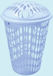 12 Units of LAUNDRY BASKET 14.50 GALLON WITH LID HEAVY DUTY BLUE - Laundry  Supplies