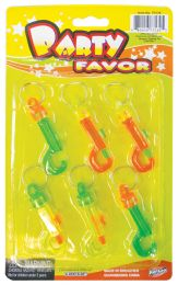24 Units of KEY CHAINS PLASTIC 6 PACK - Key Chains