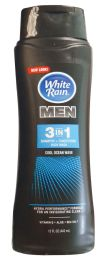 6 Units of White Rain 12 Oz Men 2in1 Body Wash Sport Cool Ocean WavE-Vitamin E + Aloe+ Sea+salt - Bath And Body