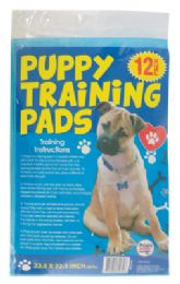 24 Units of PUPPY TRAINING PADS 12 PK 22.5 X 22.5 INCH - Pet Grooming Supplies