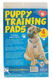 24 Units of Puppy Training Pads 4pk 22.5 X 22.5 Inches - Pet Accessories