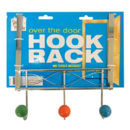 18 Units of OVER THE DOOR HOOK RACK 9 INCH 3 PRONGS METAL - Wall Decor