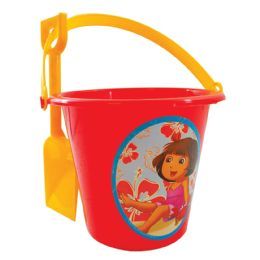 36 Units of Dora Sand Bucket W/shovel - Beach Toys