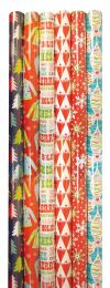 60 Units of CHRISTMAS GIFT WRAP 40 SQFT 30 INCHESX16 FEET HOLIDAY PARTY ASSORTED DESIGNS