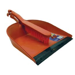 24 Units of DUSTPAN AND BRUSH SET 13 X 8.5 INCH ASSORTED COLORS - Cleaning Products