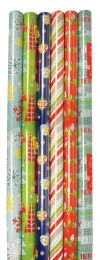 60 Units of CHRISTMAS GIFT WRAP 30 SQFT 40 INCHESX9 FEET CONTEMPORARY HOLIDAY ASSORTED DESIGNS