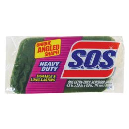 12 Units of S.O.S SCRUBBER SPONGE 4.5 X 2.5 X .9 INCH HEAVY DUTY - Cleaning Products