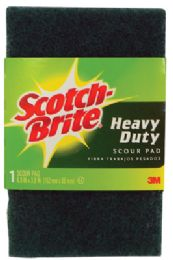 24 Units of SCOTCH BRITE HEAVY DUTY SCOUR PAD 6 X 4 INCH - Cleaning Products