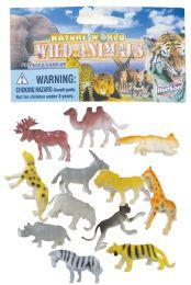 48 Units of JUNGLE ANIMALS PLASTIC 2 INCH 12 PACK ASSORTED - Animals & Reptiles