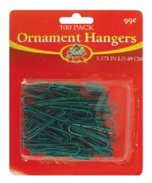 60 Units of CHRISTMAS ORNAMENT HANGERS 100 PACK PREPRICED $0.99 - Christmas Ornament