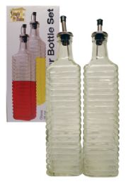 12 Units of Glass Oil/vinegar Set 2 Pc 16 oz - Glassware
