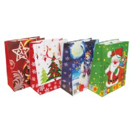 48 Units of Christmas Gift Bag 19.5 X 16 X 7.5 Inch Giant - Gift Bags Christmas