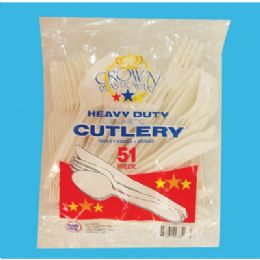 48 Units of PLASTIC CUTLERY 51 COUNT COMBO - Disposable Cutlery