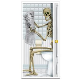 12 Units of Skeleton Restroom Door Cover indoor & outdoor use - Photo Prop Accessories & Door Cover