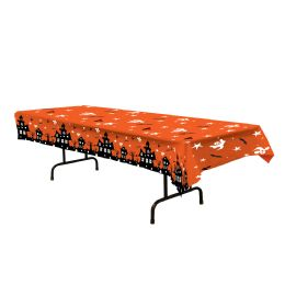 12 Units of Haunted House Tablecover Plastic - Table Cloth