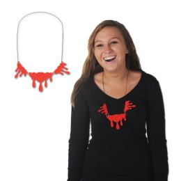 12 Units of Dripping Blood Necklace - Party Necklaces & Bracelets