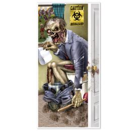 12 Units of Zombie Restroom Door Cover indoor & outdoor use - Photo Prop Accessories & Door Cover