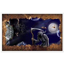 6 Units of Open Grave InstA-View Creates A Scene On Your Wall - Party Novelties