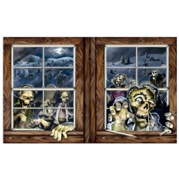 6 Units of Zombie Attack InstA-View Creates A Scene On Your Wall - Party Novelties