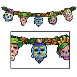 12 Units of Day Of The Dead Streamer prtd 2 sides - Streamers & Confetti