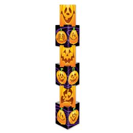 6 Units of JacK-O-Lantern Column 6 Individual Sections Create 1-5' 7.25 Column; Assembly Required - Party Novelties