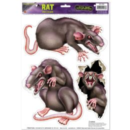 12 Units of Rats Peel 'n Place - Hanging Decorations & Cut Out