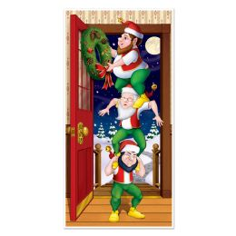 12 Units of Christmas Elves Door Cover indoor & outdoor use - Photo Prop Accessories & Door Cover