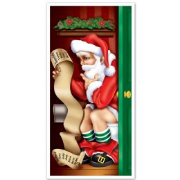 12 Units of Santa Restroom Door Cover indoor & outdoor use - Photo Prop Accessories & Door Cover