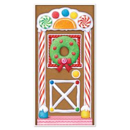 12 Units of Gingerbread House Door Cover indoor & outdoor use - Photo Prop Accessories & Door Cover