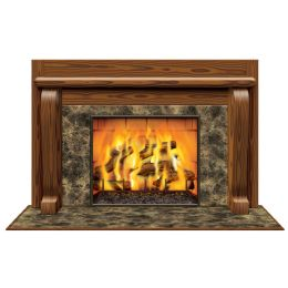6 Units of Fireplace InstA-View Creates A Scene On Your Wall - Party Novelties