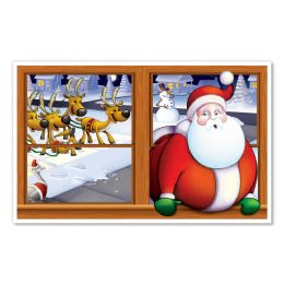 6 Units of Santa InstA-View Creates A Scene On Your Wall - Party Novelties