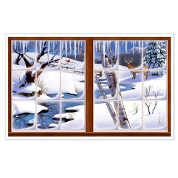 6 Units of Winter InstA-View Creates A Scene On Your Wall - Party Novelties