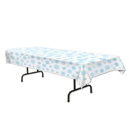 12 Units of Snowflake Tablecover Plastic - Table Cloth