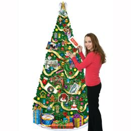 12 Units of Jointed CHRISTMAS Tree slotted to hold greeting cards