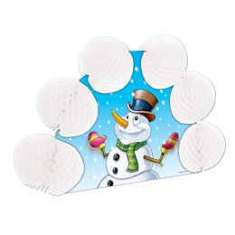 12 Units of Snowman Pop-Over Centerpiece - Party Center Pieces